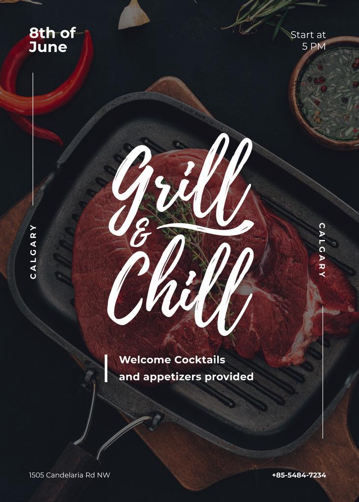 Raw meat steak — Crear un diseño