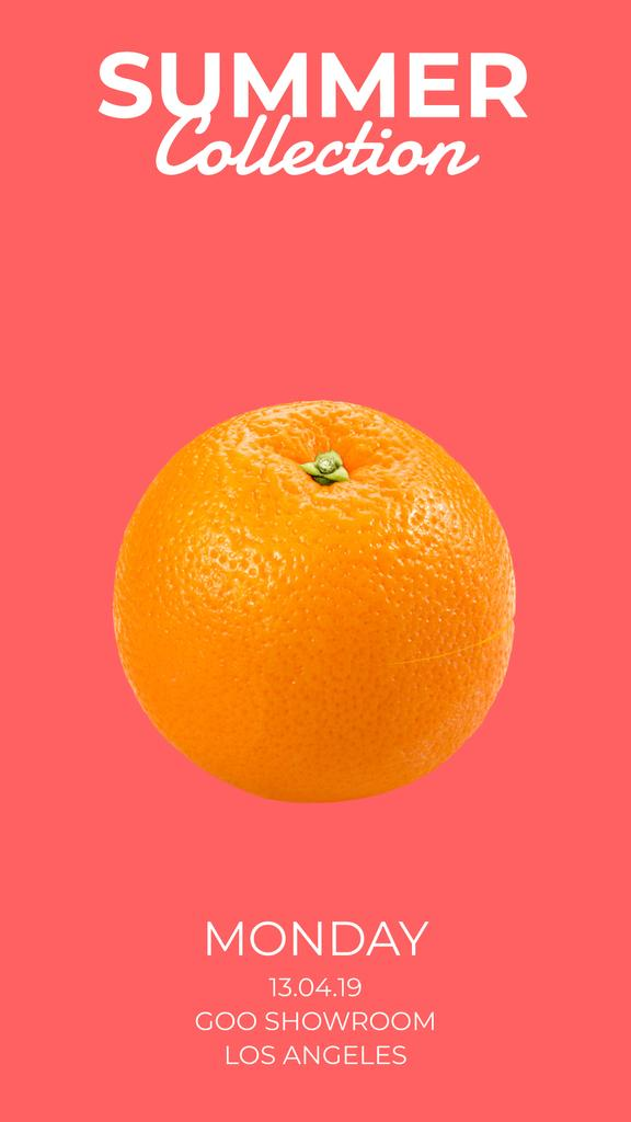 Sale Offer Orange Split in Halves — Crea un design