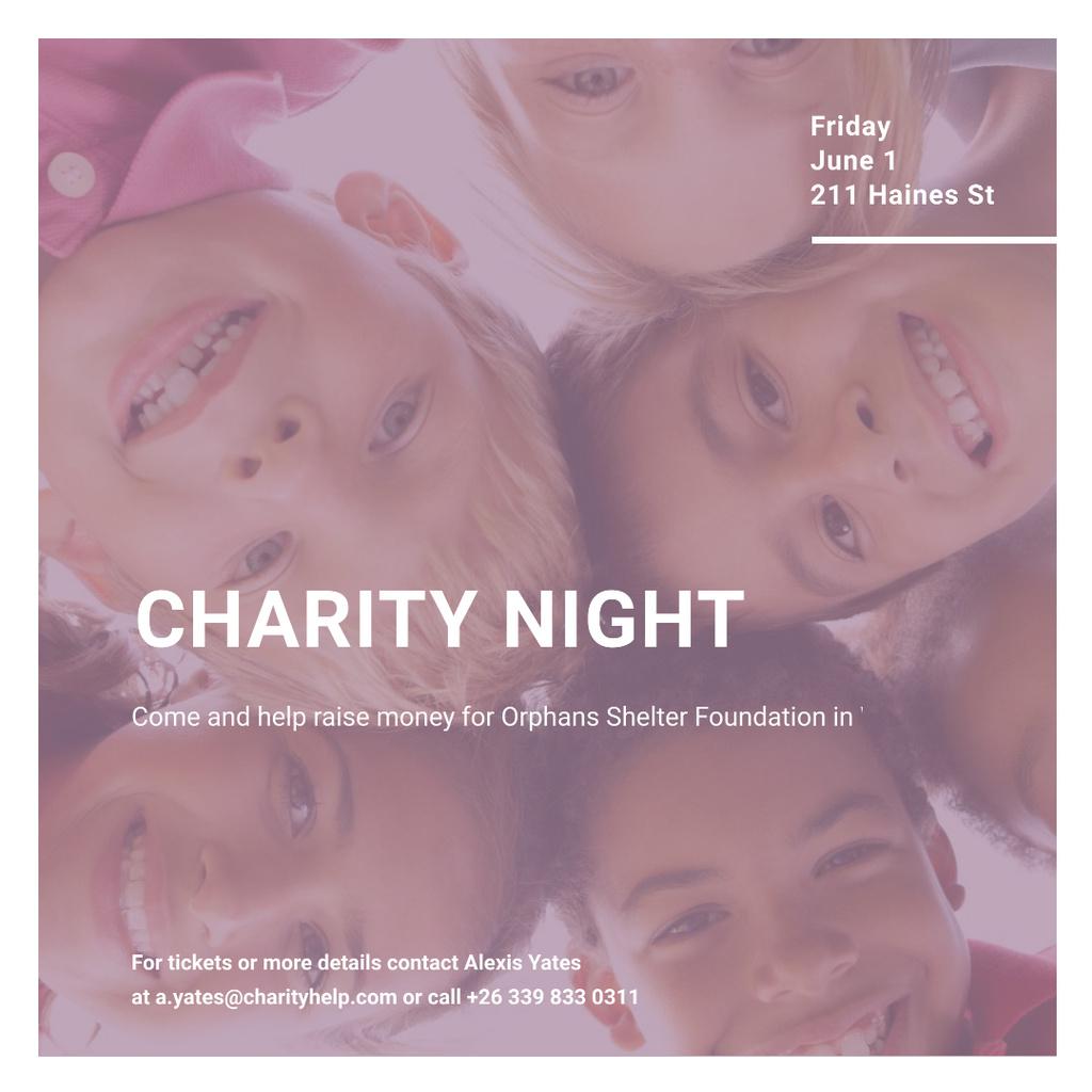 Template di design Corporate Charity Night Instagram