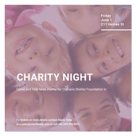 Ontwerpsjabloon van Instagram van Corporate Charity Night