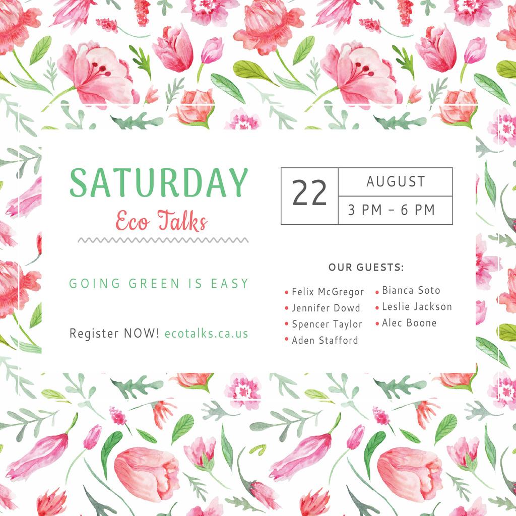 Saturday eco talks Invitation — Create a Design