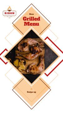 Restaurant Menu Offer Grilled Chicken