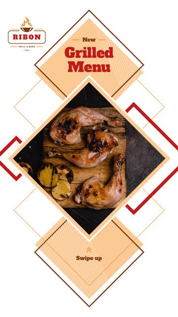 Ontwerpsjabloon van Instagram Story van Restaurant Menu Offer Grilled Chicken