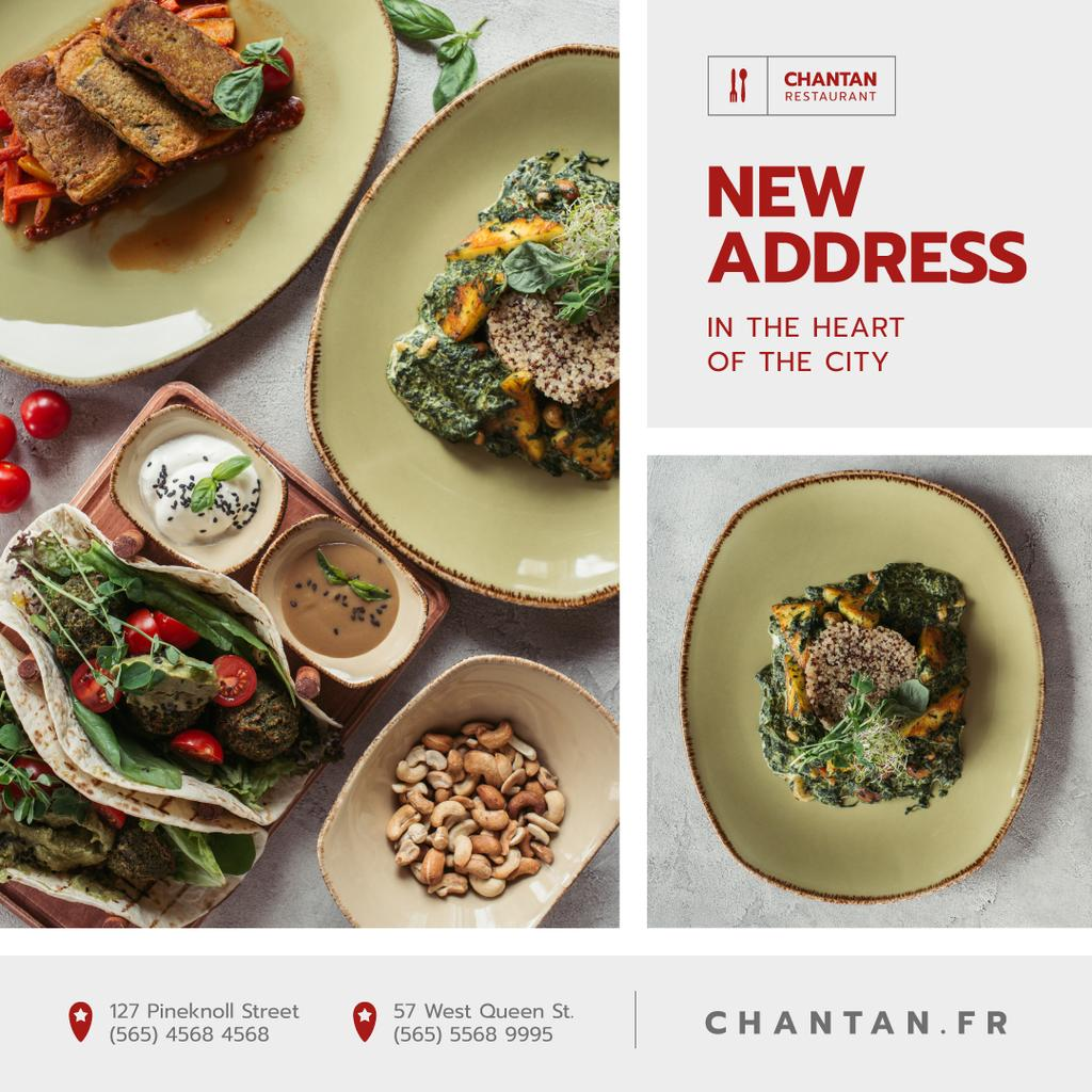 Restaurant Promotion Healthy Dishes with Vegetables — Crear un diseño