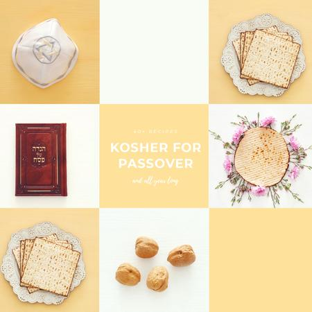 Happy Passover Celebration Attributes Animated Post Design Template