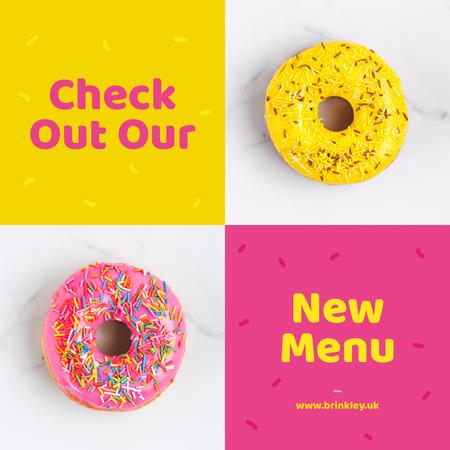 Delicious donuts with icing Instagram Design Template
