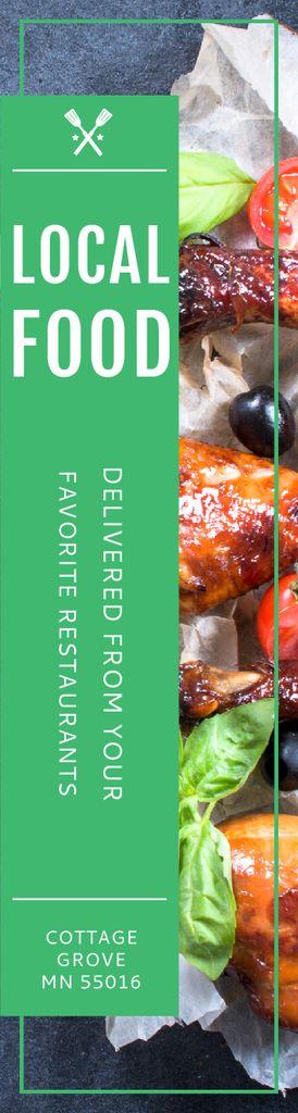 Ontwerpsjabloon van Skyscraper van Local Food Offer Grilled Chicken