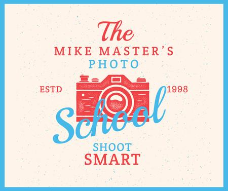 Photo School Ad Stamp of Camera Facebook Modelo de Design