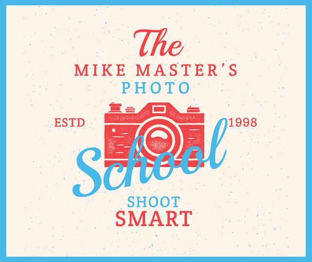 Photo School Ad Stamp of Camera Facebook Design Template