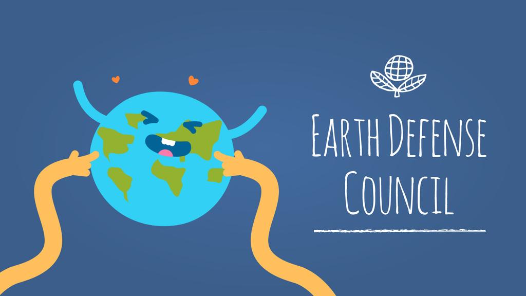 Hands tickling Earth — Créer un visuel