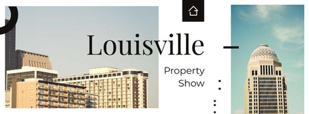 Modèle de visuel Louisville city buildings - Facebook cover