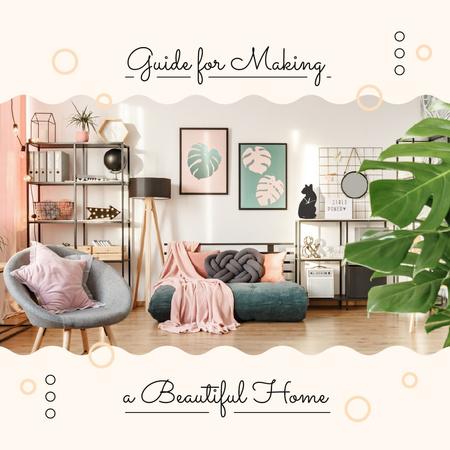 Cozy modern Room Interior Instagram – шаблон для дизайну