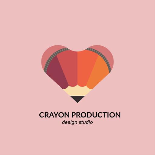 Design Studio Ad With Pencils Heart In Pink