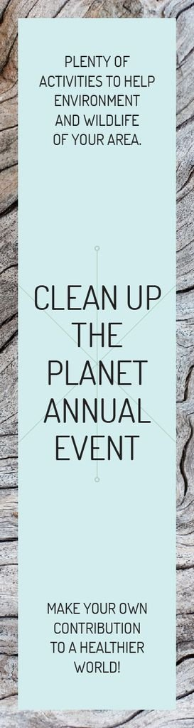 Clean up the Planet Annual event — ein Design erstellen