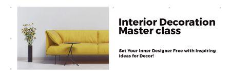 Plantilla de diseño de Interior decoration masterclass Email header