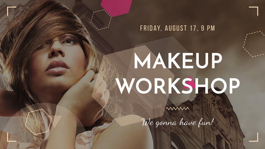 Makeup Workshop promotion with Attractive Woman — Crea un design
