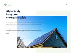 Solar panels in rows