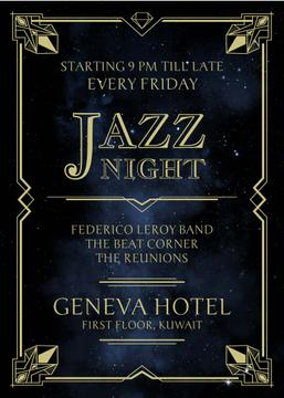 Jazz night invitation