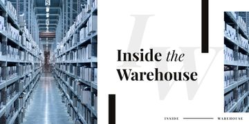 Shelves in warehouse interior