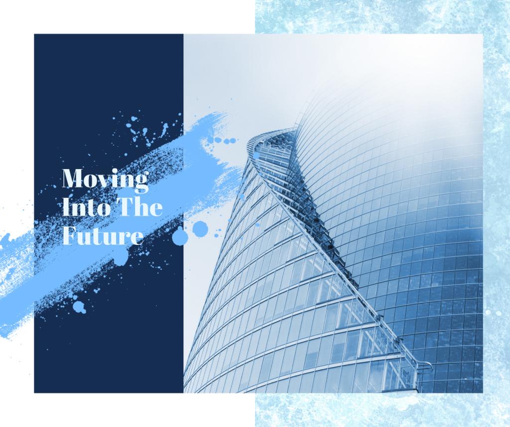 Modern glass building — Créer un visuel