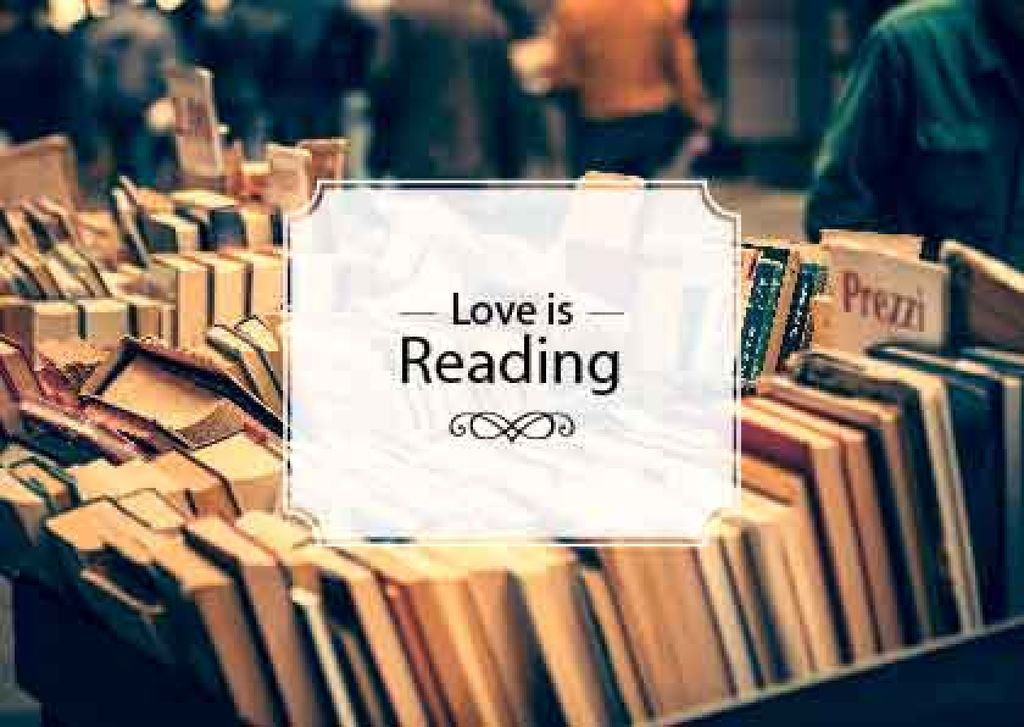 Quote about reading with Bookstore — Maak een ontwerp