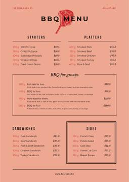 BBQ dishes offer