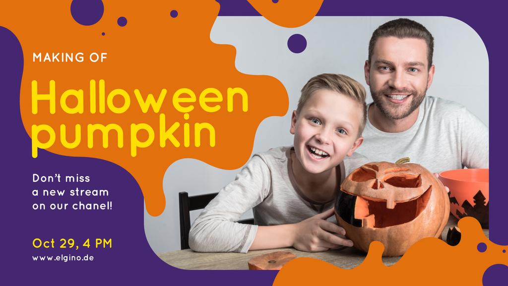 Halloween Workshop Father and Son Carving Pumpkin | Facebook Event Cover Template — Crear un diseño