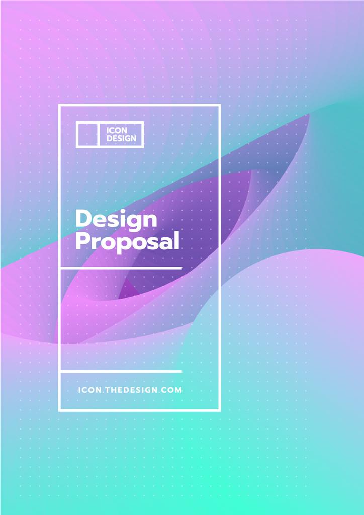 Design studio offer on abstract Painting Proposal – шаблон для дизайну
