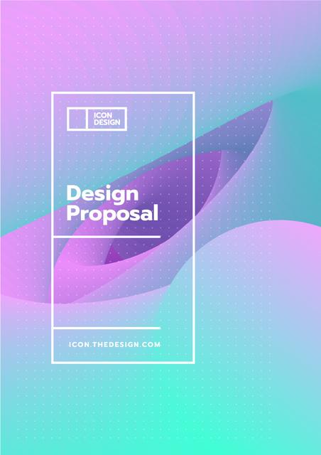 Plantilla de diseño de Design studio offer on abstract Painting Proposal