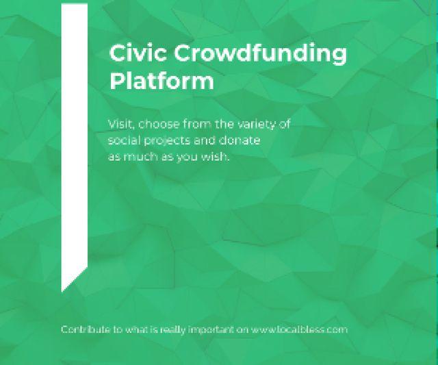 Civic Crowdfunding Platform Medium Rectangle – шаблон для дизайну