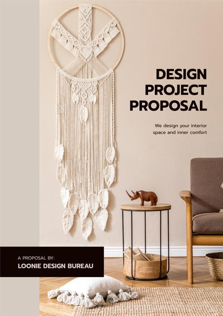 Plantilla de diseño de Home Design Bureau overview Proposal