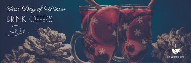 First day of winter offers poster Twitter – шаблон для дизайну