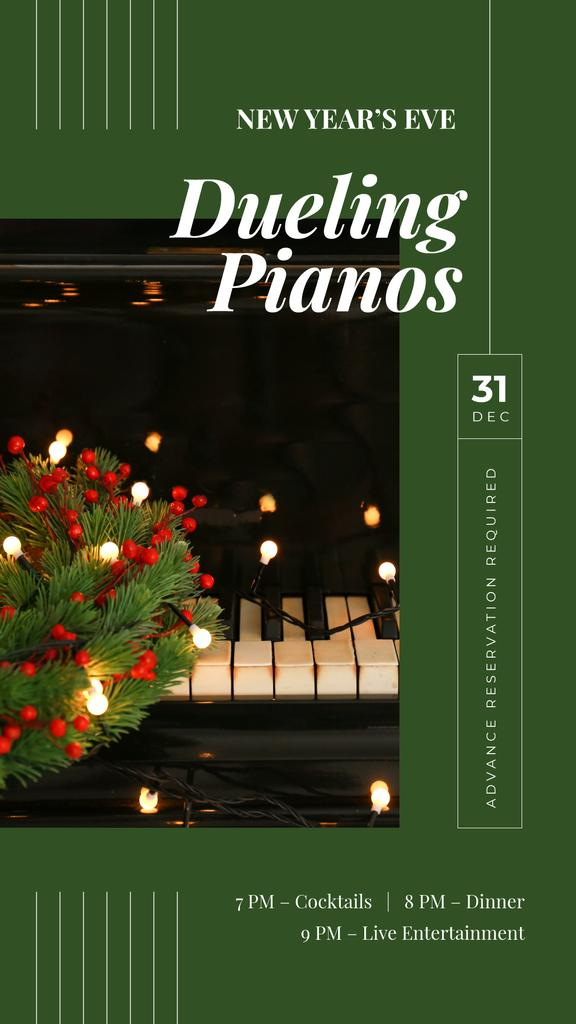 Christmas wreath on piano — Create a Design