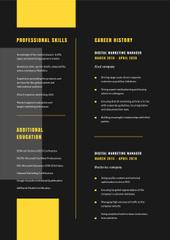 Marketing Manager professional profile