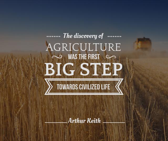 Agriculture Harvester working in field Facebook Modelo de Design