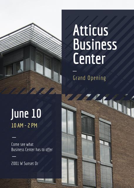 Plantilla de diseño de Business Building Center Grand Opening Announcement Flayer
