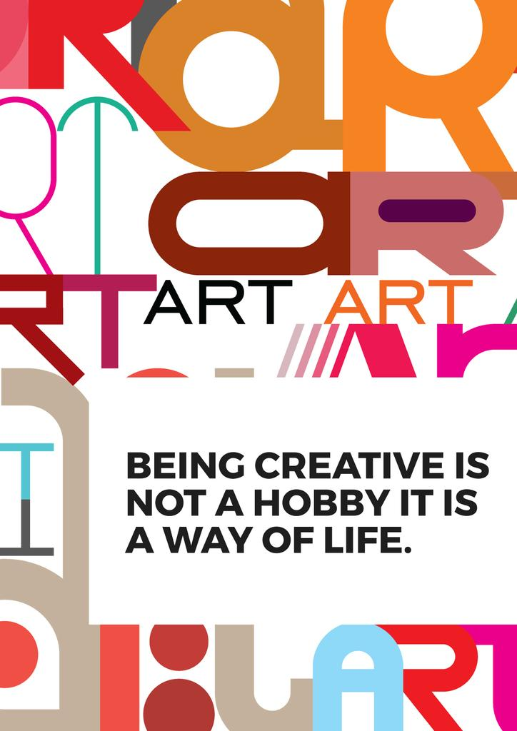 Citation about how to be a creative — ein Design erstellen
