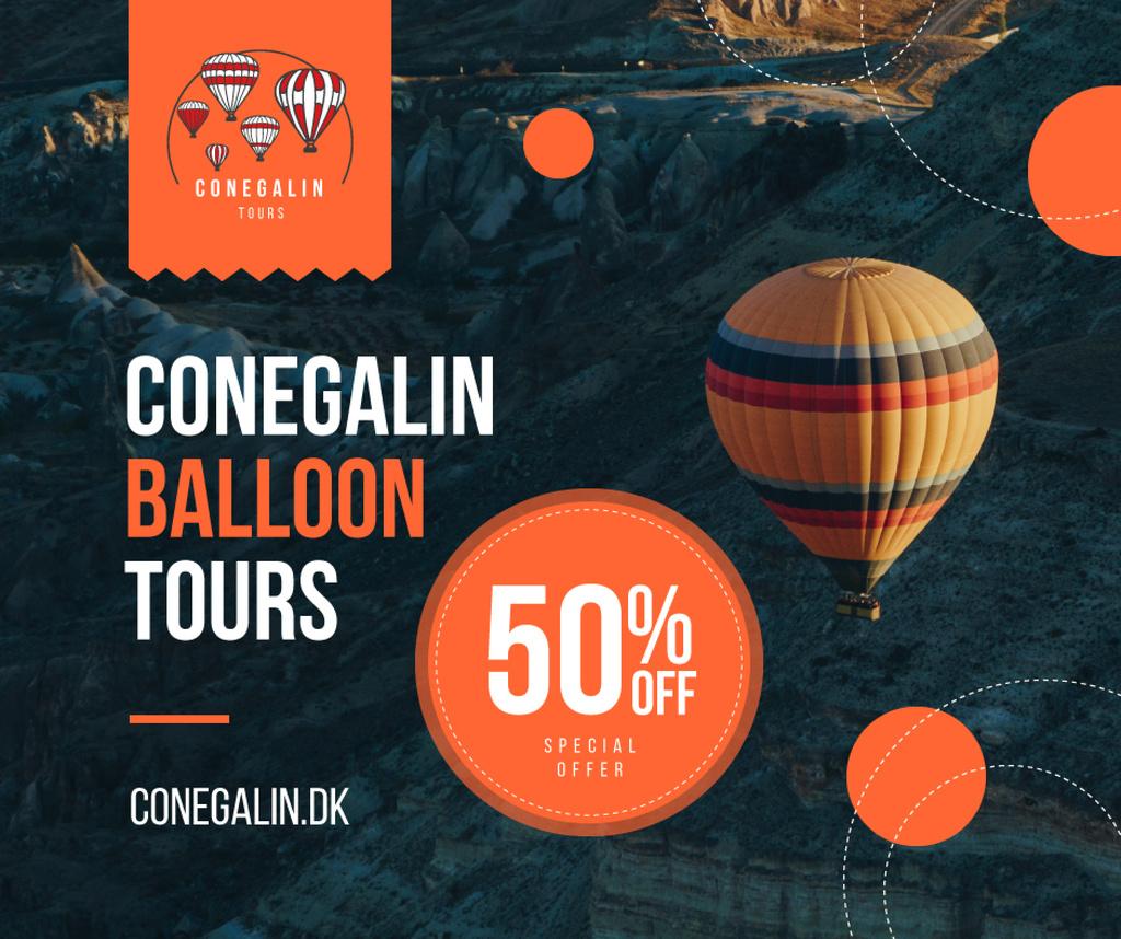 Hot Air Balloon Flight Offer | Facebook Post Template — Crea un design