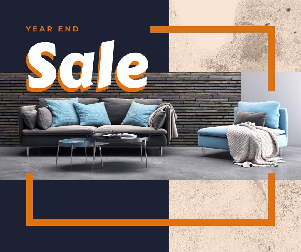 Year end Furniture sale interior in grey — Create a Design