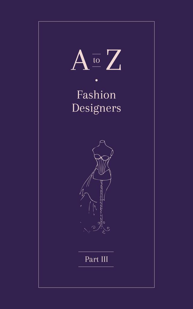 Dressmaker Dummy Illustration in Purple — ein Design erstellen