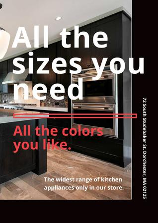 Ontwerpsjabloon van Poster van Kitchen appliances store
