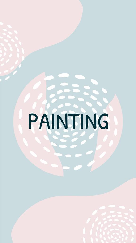 Arts and Crafts store promotion on abstract pattern — Crear un diseño