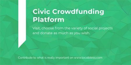 Civic Crowdfunding Platform Twitter Modelo de Design