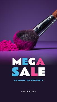 Makeup Sale with brush and powder