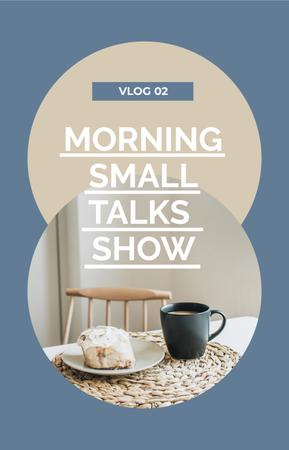Modèle de visuel Cup of Coffee and Cake during Talk Show - IGTV Cover