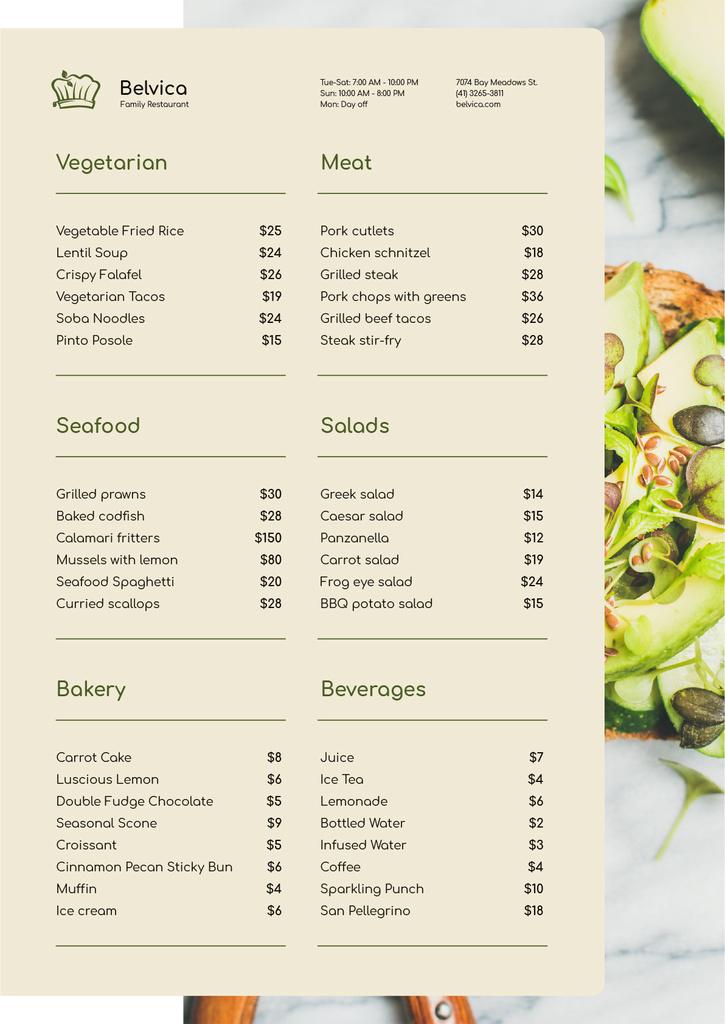 Toast with Avocado and seeds — ein Design erstellen