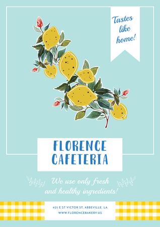 Designvorlage Florence cafeteria Invitation für Poster