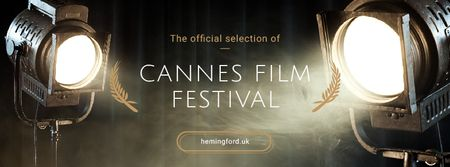 Cannes Film Festival Facebook cover Modelo de Design