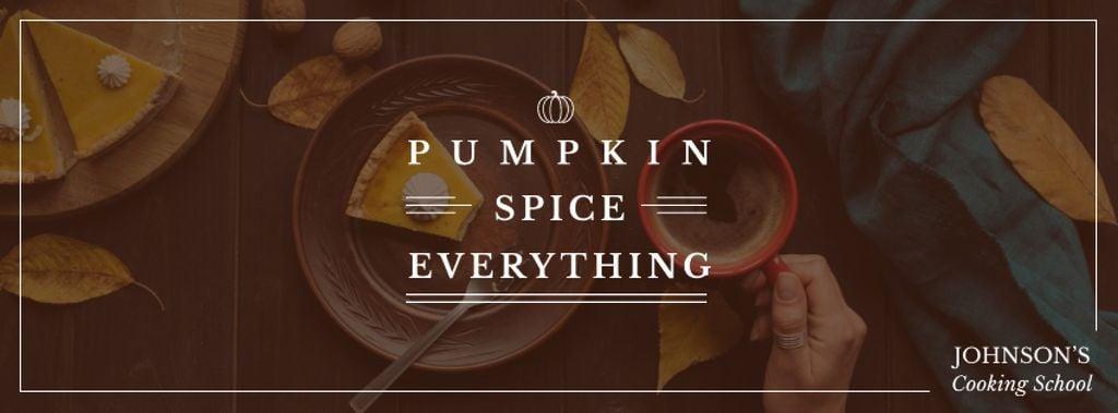 Dishes with Pumpkin spice Facebook cover Modelo de Design