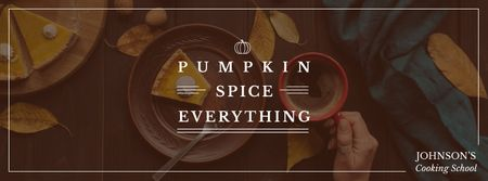 Plantilla de diseño de Dishes with Pumpkin spice Facebook cover